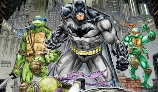 The Dark Knight Arrives In New Batman Vs. Teenage Mutant Ninja Turtles Photo