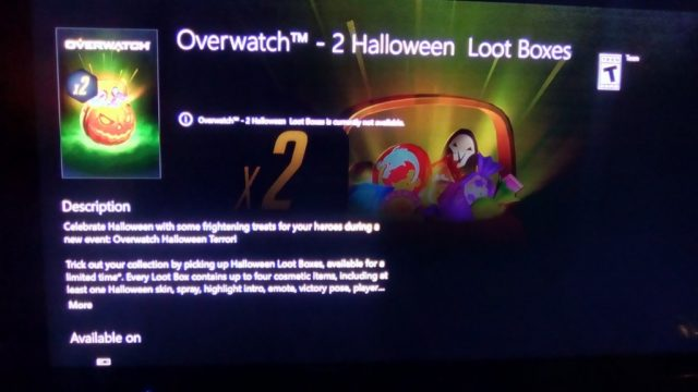 Leaked Xbox Store Image Seemingly Outs Halloween Event For Blizzard's Overwatch