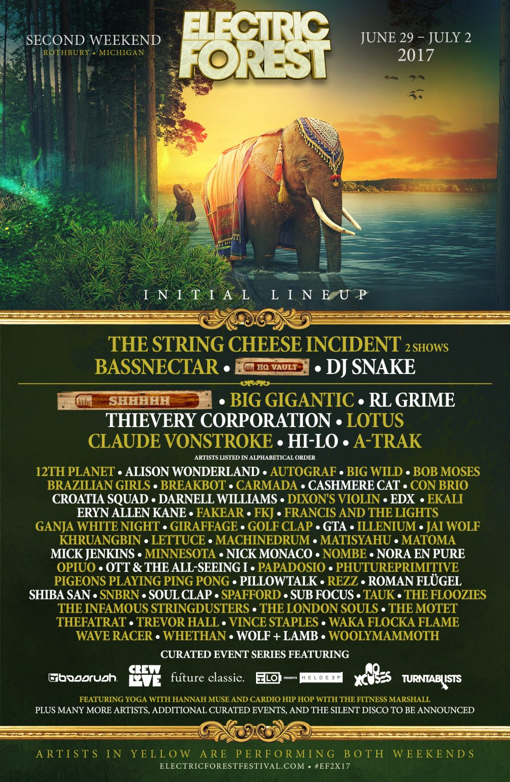 Electric Forest Reveals 2017 Lineup With Bassnectar, Nero & More