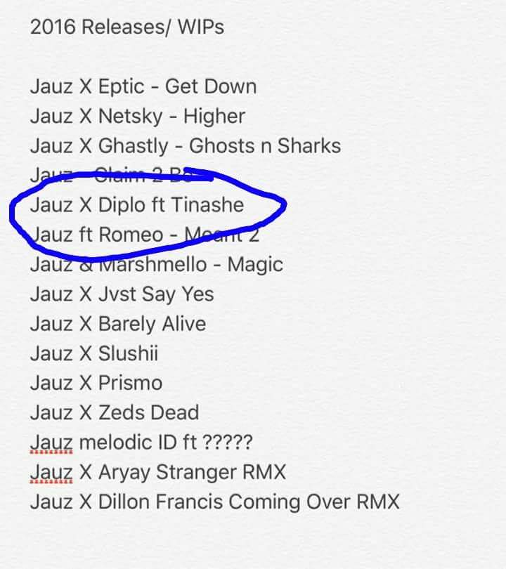 Diplo And Jauz Have A Tinashe Collab Coming Up