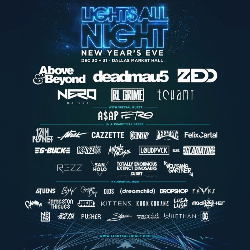 Lights All Night Reveals Full NYE Lineup