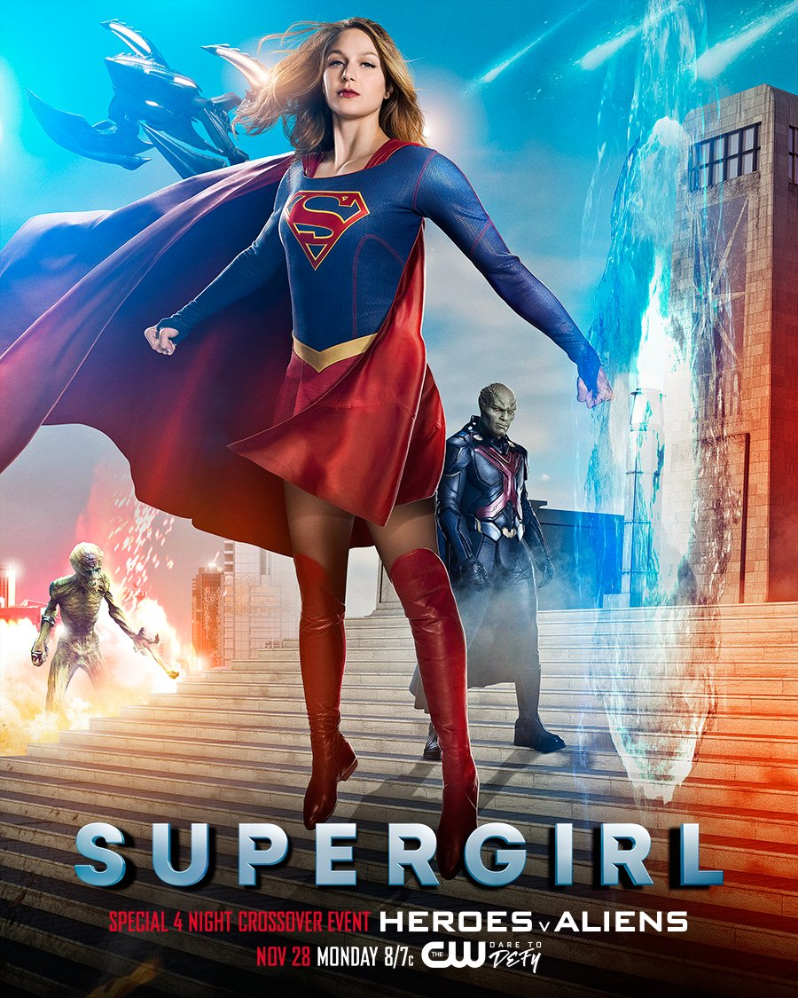 New Supergirl Clip Debuts Along With Unique DC TV Crossover Poster