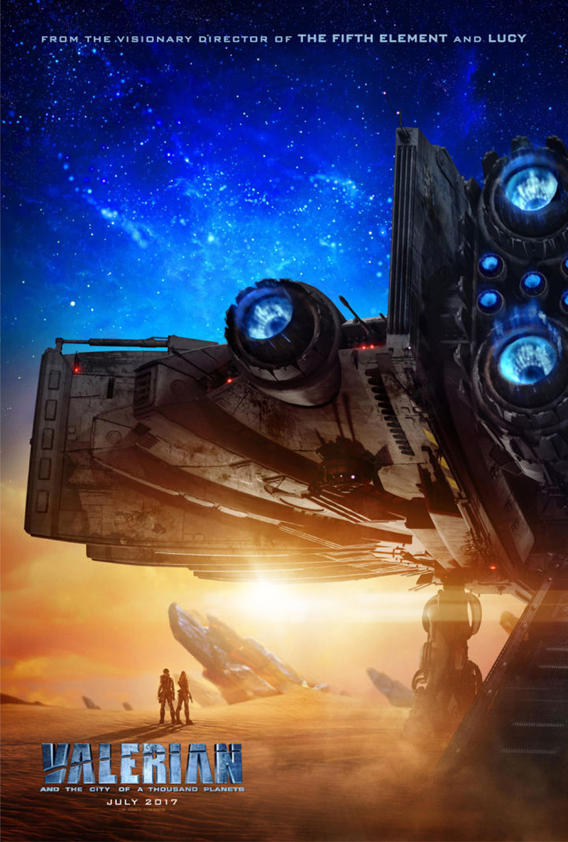 Dazzling Poster And TV Spot For Valerian And The City Of A Thousand Planets Showcase Luc Besson's Space Oddity