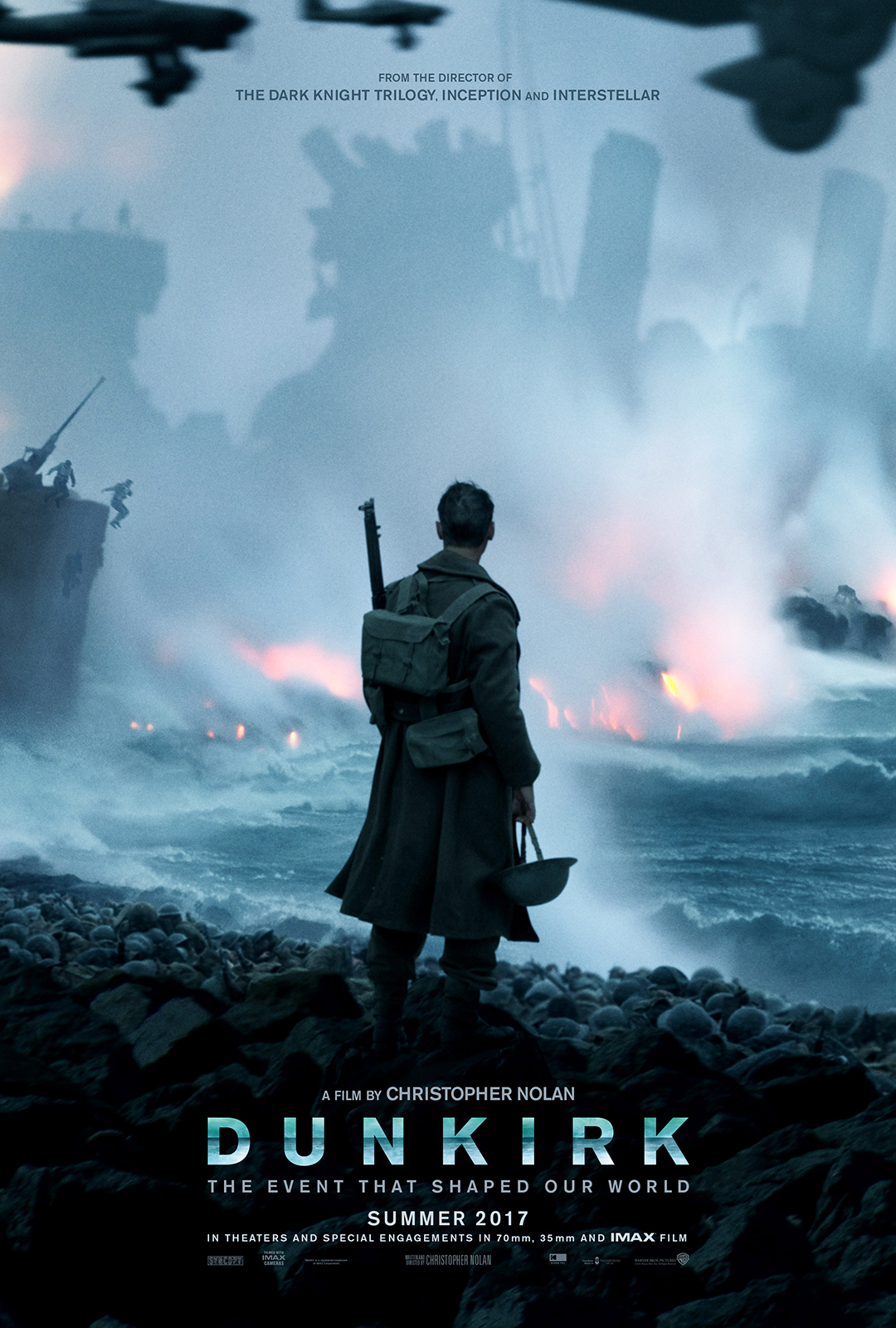 First Poster For Christopher Nolan's Dunkirk Teases A Wartime Epic, New Trailer Is Imminent