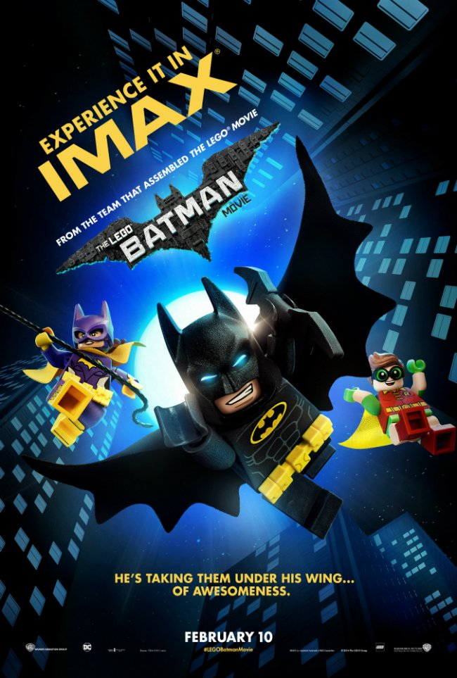 IMAX Poster For The LEGO Batman Movie Features The Caped Crusader And Friends