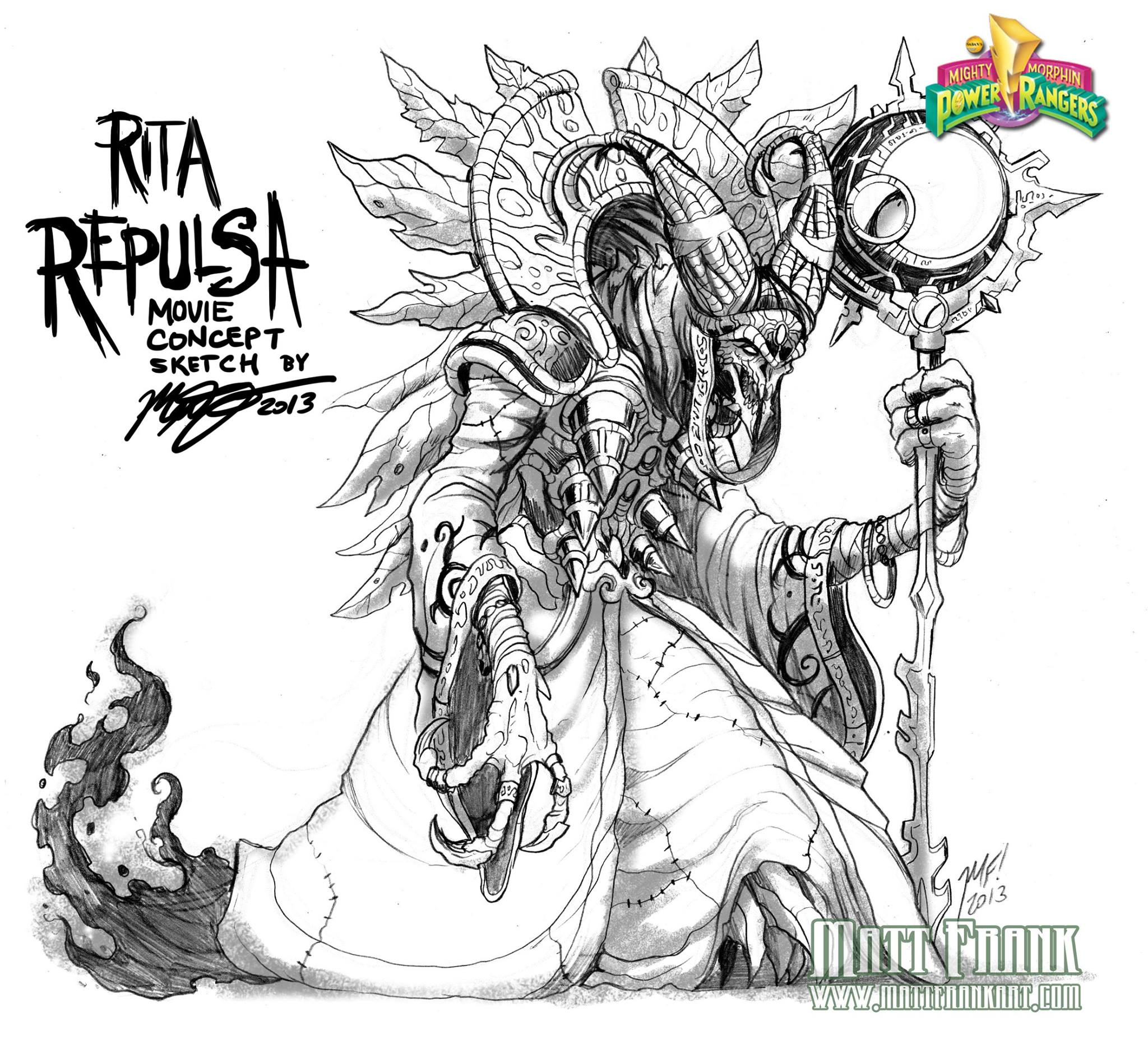 Concept Art From Canned Power Rangers Movie Unveils A Very Different Rita Repulsa
