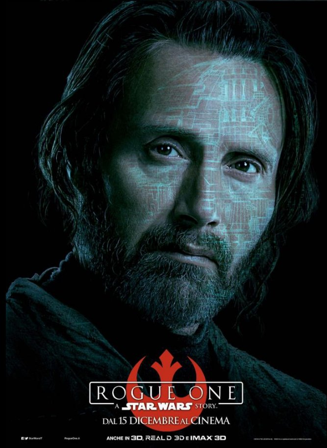 Galen Erso Steps Into The Light Via New Rogue One: A Star Wars Story Character Poster