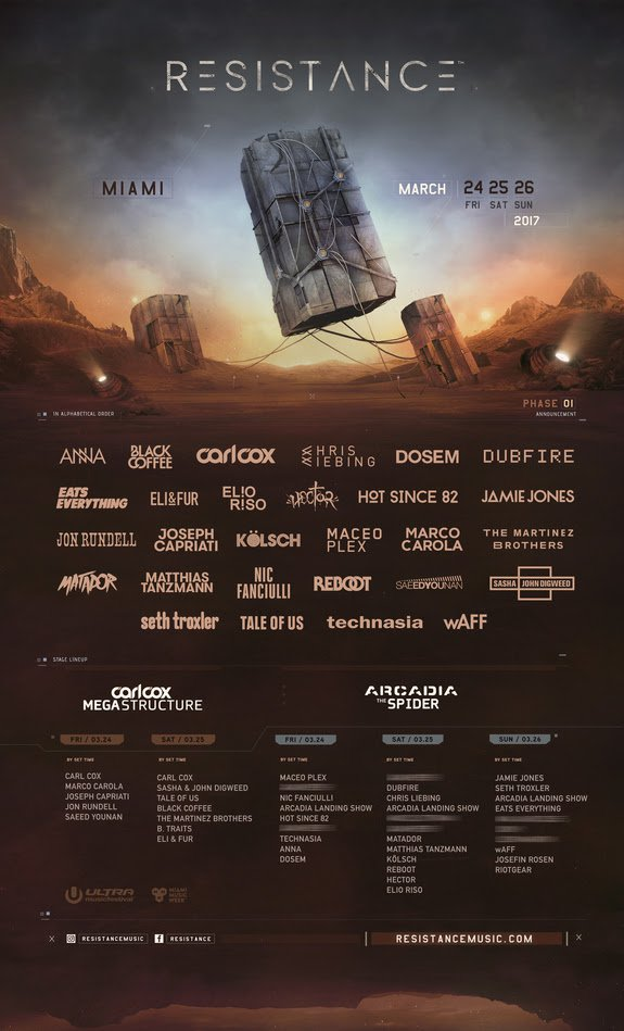 Ultra Announces Phase One Lineup For Resistance Stage