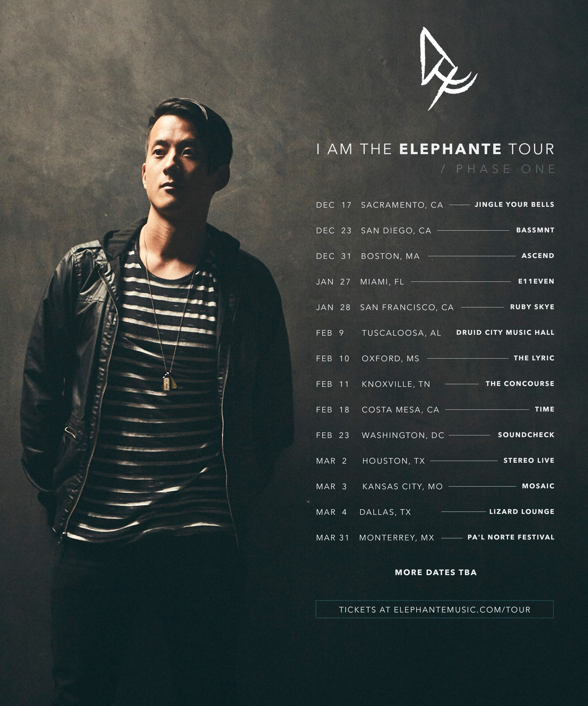 Elephante Drops New Remix Pack And Announces Headlining Tour
