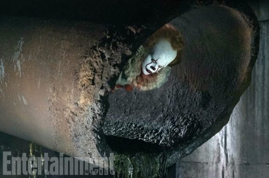 New It Photo Finds Pennywise Lurking Around In The Sewer