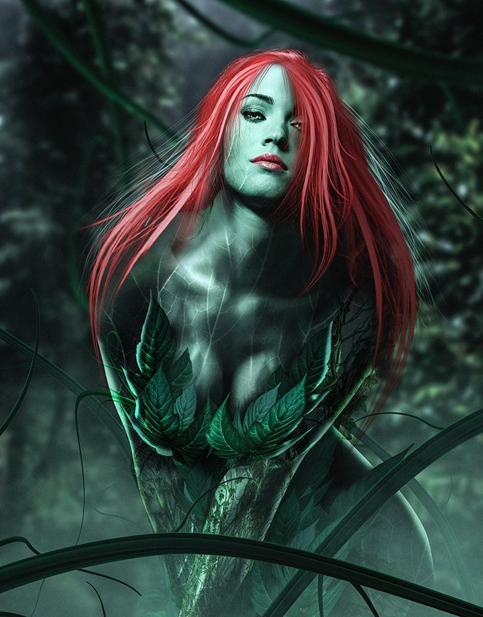 Gotham City Sirens: Megan Fox Turns Over A New Leaf In Poison Ivy Fan Art