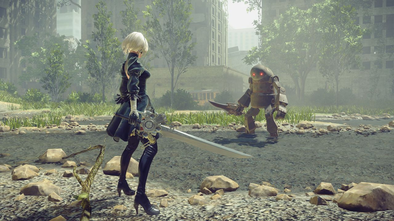 New NieR: Automata Gameplay Details Quests, Exploration And How To Survive Death