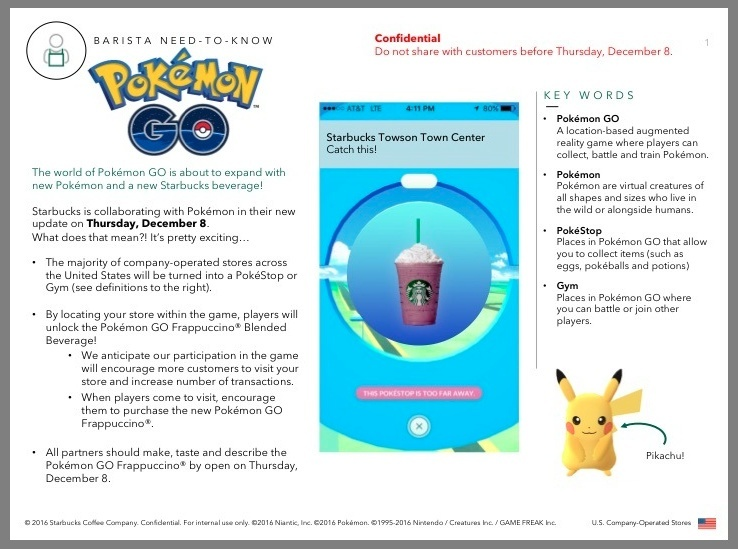 Pokemon Go Leak Points To Promotional Collaboration Event With Starbucks