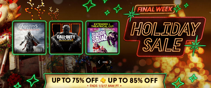 Final Week Of PlayStation Holiday Sale Kicks Off