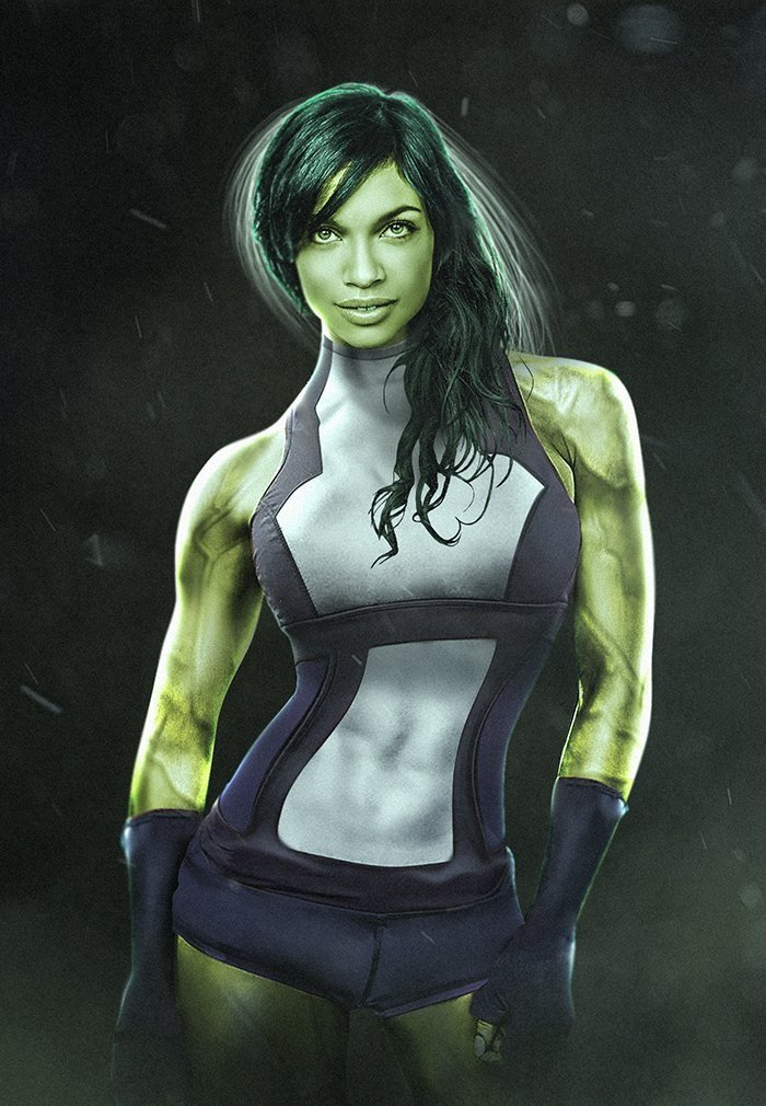 The Defenders' Rosario Dawson Looks Incredible As She-Hulk In New Fan Art