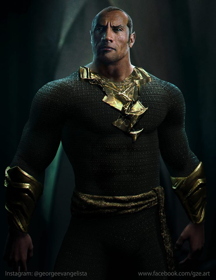 New Fan-Art Imagines What Dwayne Johnson Will Look Like Suited Up As Shazam's Black Adam