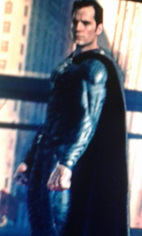 Did Our First Look At Superman's Black Costume In Justice League Just Leak?