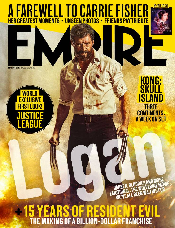 Empire's Logan Cover Teases A Fiery Send-Off For The Clawed Mutant