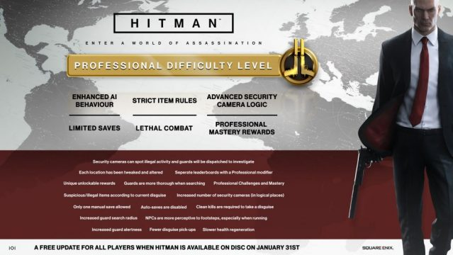 Hitman Ramps Up The Difficulty On January 31 With Free Professional Mode Update