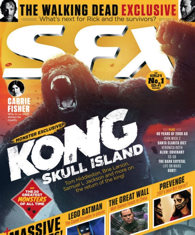 SFX Cover For Kong: Skull Island Pays Homage To One Of Cinema's Great Movie Monsters