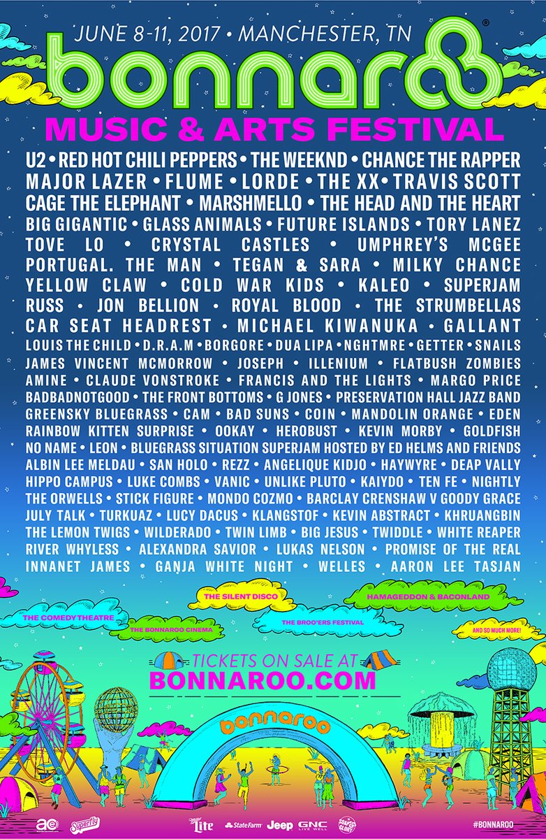 Bonnaroo Drops Huge 2017 Lineup With Flume, Major Lazer And More