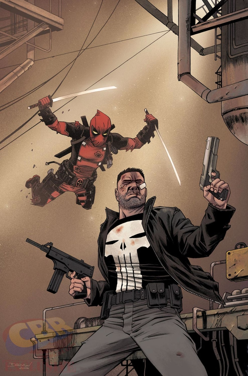 Wade Wilson Gets Serious Airtime On Deadpool Vs. The Punisher #2 Cover