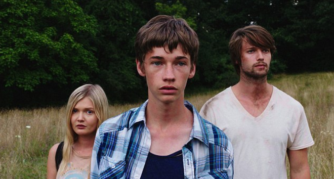 Sophie Kennedy Clark, Jacob Lofland and Patrick Schwarzenegger in Go North