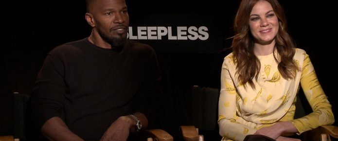 Exclusive Interviews: Jamie Foxx And Michelle Monaghan Talk Sleepless