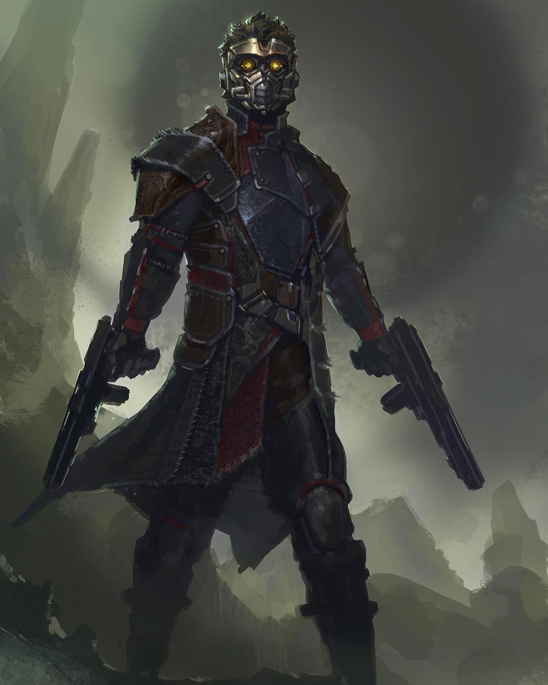 New Guardians Of The Galaxy Concept Art Shows Off Some Alternate Star-Lord Designs