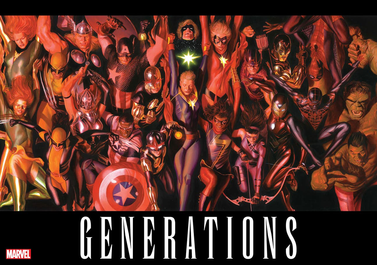"Marvel Teases Return Of Some Familiar Faces In Stunning Alex Ross ""Generations"" Teaser"