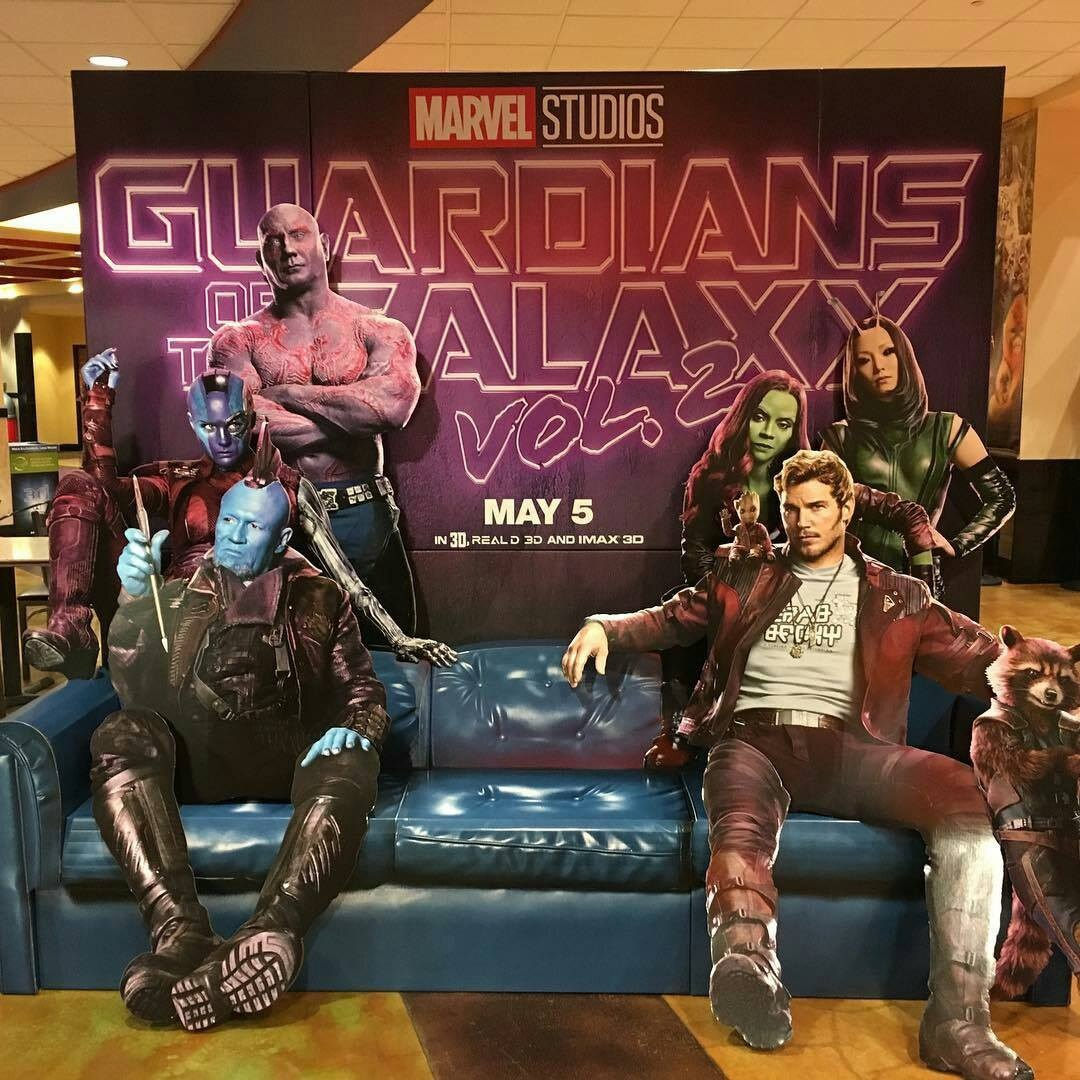This New Guardians Of The Galaxy Vol. 2 Standee Is Seriously Awesome