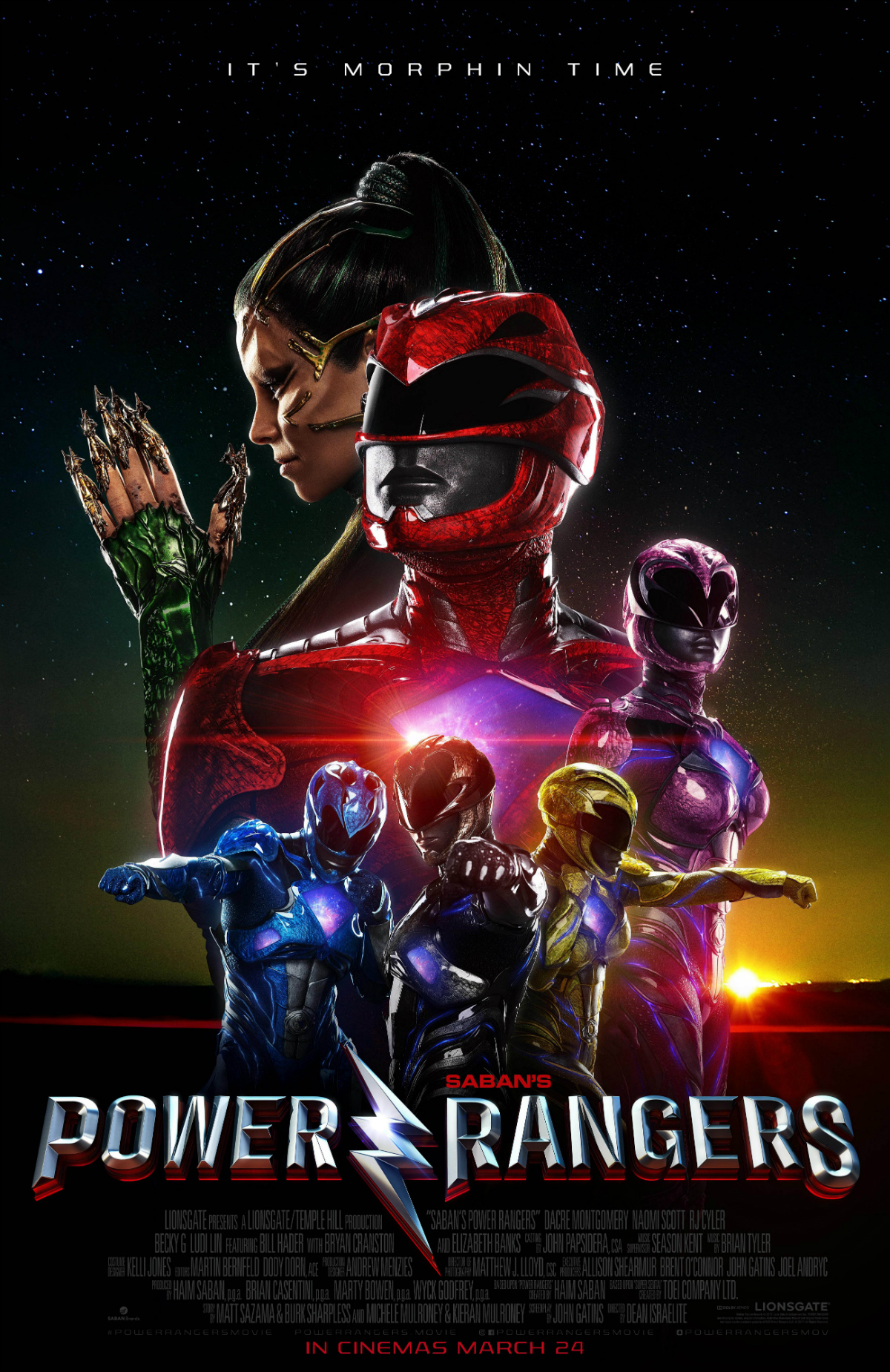 Power Rangers Poster Draws The Line Between Friend And Foe