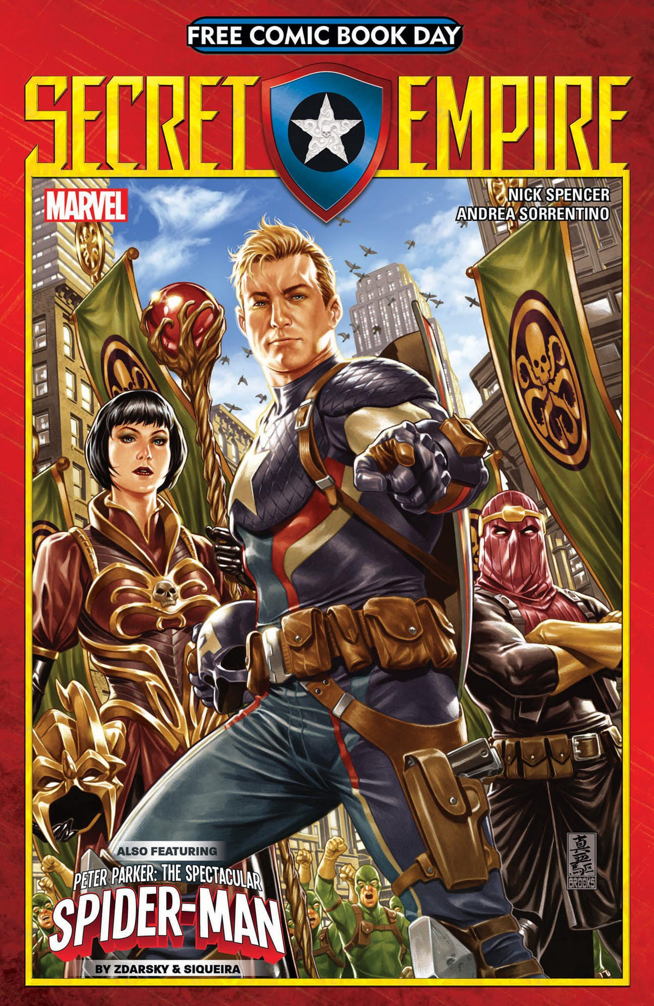 Captain America And Hydra Assemble On Free Comic Book Day Secret Empire Cover
