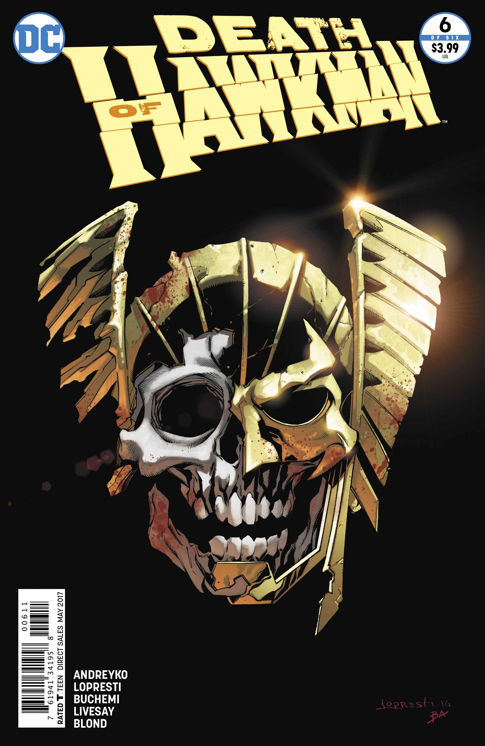 Death Of Hawkman #6 Lives Up To Its Name