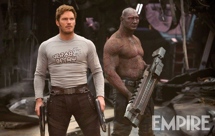 Drax And Star-Lord Are Armed And Dangerous In New Pic For Guardians Of The Galaxy Vol. 2