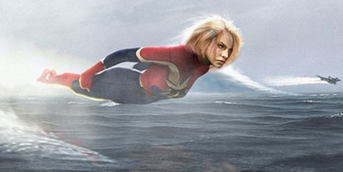 Brie Larson's Captain Marvel Takes Flight In Amazing New Fan-Art