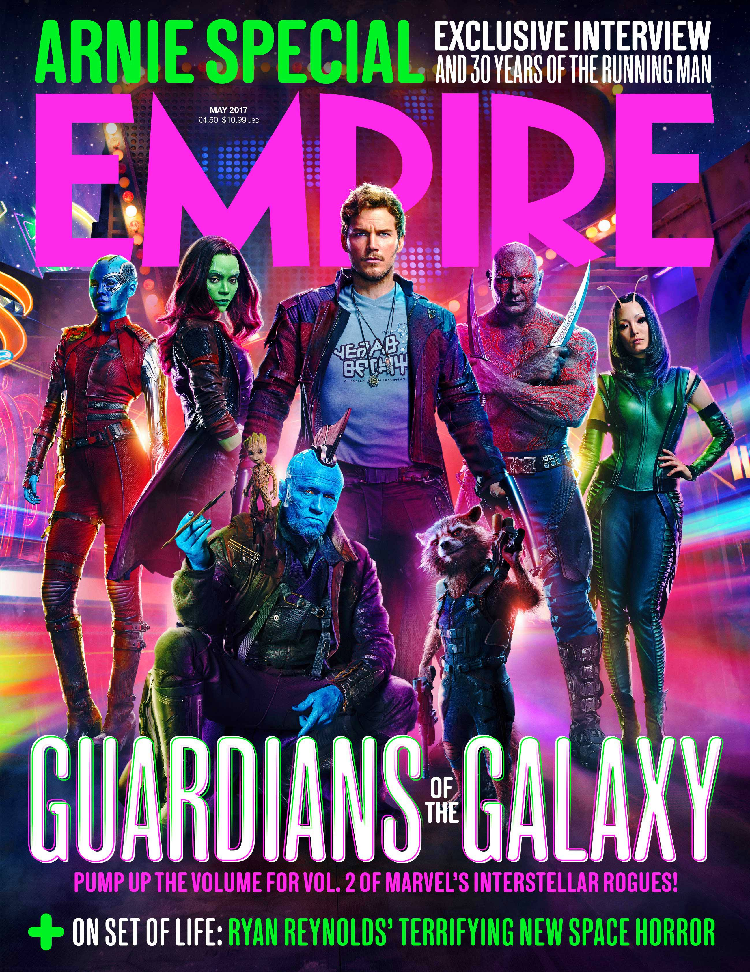 The Team Assembles On Guardians Of The Galaxy Vol. 2 Empire Magazine Cover