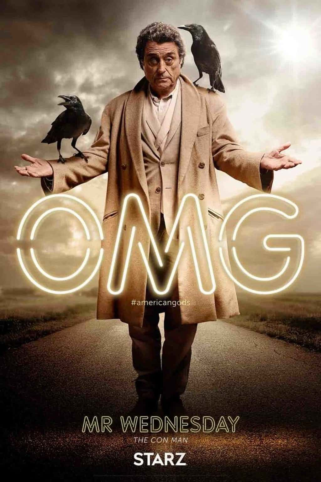 American Gods' Shadow Moon And Mr  Wednesday Get Character