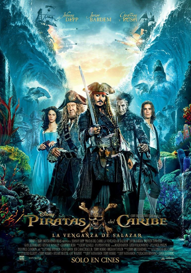 International Poster For Pirates Of The Caribbean: Dead Men Tell No Tales Gathers Sparrow's Swashbuckling Crew
