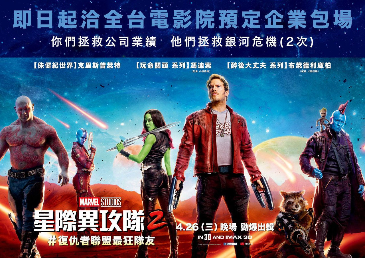 New International Banner And Posters For Guardians Of The Galaxy Vol. 2