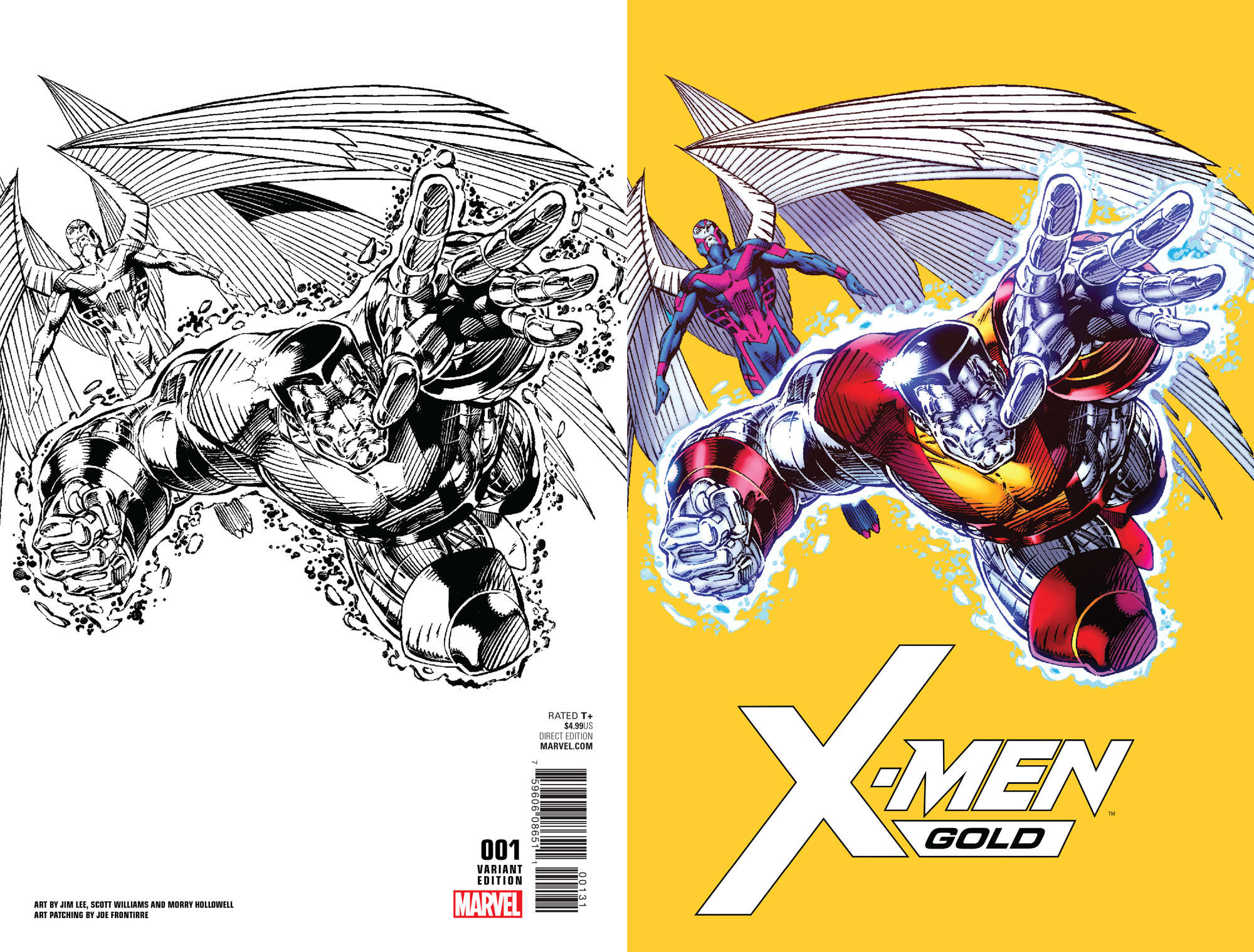 Jim Lee (Sort Of) Returns To Marvel With X-Men Gold And Blue Variant Covers