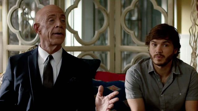 J.K. Simmons and Emile Hirsch in All Nighter
