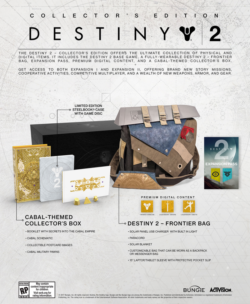 Bungie Details Destiny 2 Special Editions, Expansion Pass Teased