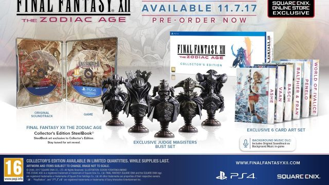 Final Fantasy XII: The Zodiac Age Collector's Edition Announced, Includes Bust Set, Soundtrack, More