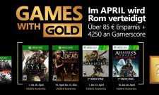 April's Games With Gold Lineup Includes Ryse: Son Of Rome And The Walking Dead Season Two