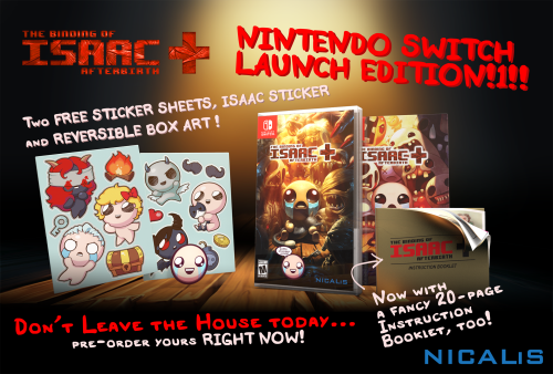 The Binding Of Isaac Headlines This Week's Batch Of New Nintendo Switch Titles