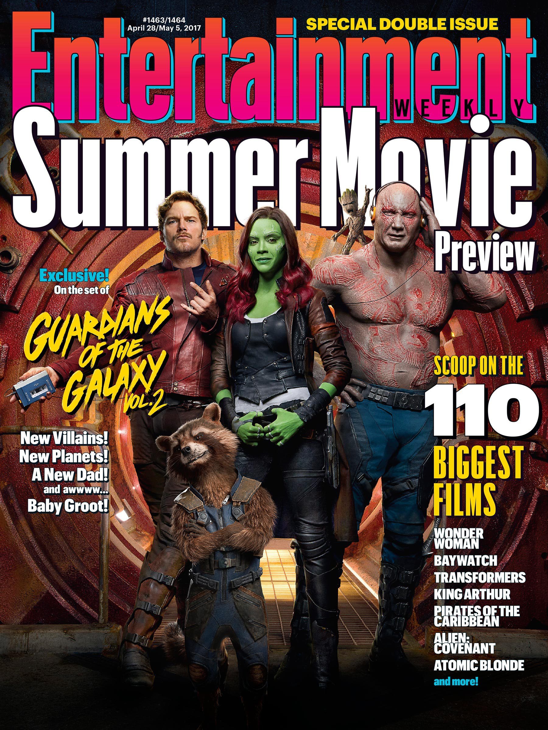 Guardians Of The Galaxy Vol. 2 Lights Up The Latest EW Cover As New Promo Showcases Awesome Mix Vol. 2