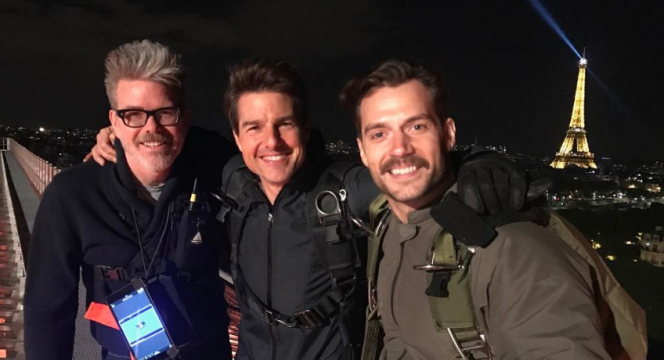 Henry Cavill Sports A New Look In Mission: Impossible 6 Behind The Scenes Photo