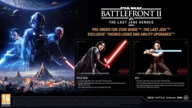 Battlefront II Pre-Order Incentive Offers A Peek At Rey And Kylo Ren As They'll Appear In Star Wars: The Last Jedi