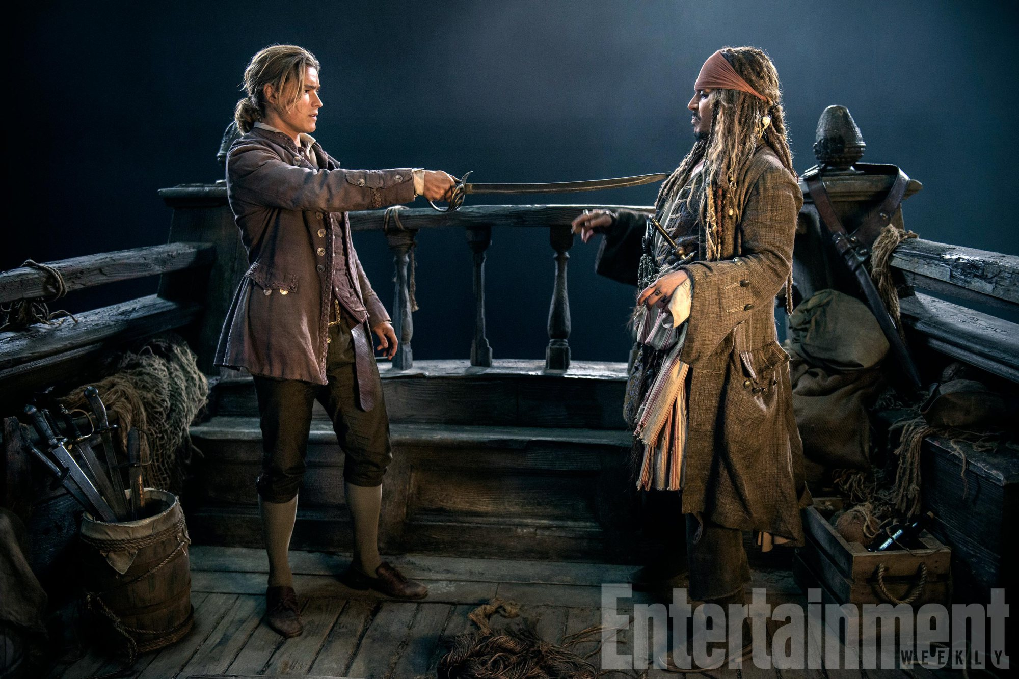 Jack Sparrow Skates On Thin Ice In Another Image For Pirates Of The Caribbean: Dead Men Tell No Tales